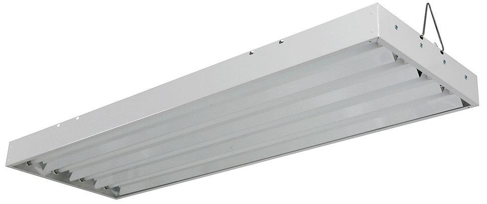 T5 Fluorescent 2X4 Grow Light - Includes 4x 24w 6500K Lamps