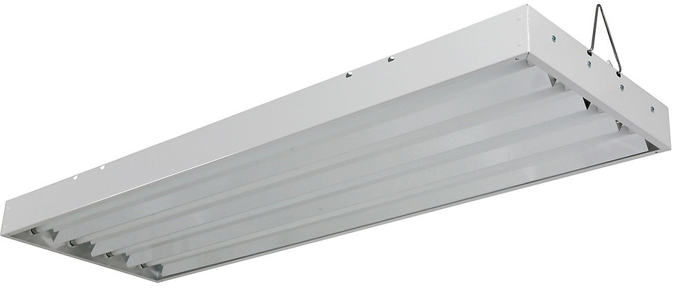T5 Fluorescent 2X4 Grow Light - Includes 4x 24w 6500K Lamps