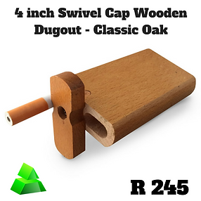 "Green goddess. 4"" swivel cap wooden dugout. Classic Oak."