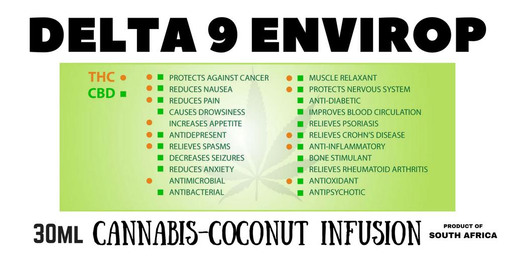 DELTA 9 ENVIROP temp label coconut infusion
