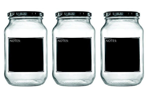 Consol - 1L Jars with Black Notes - 3pk