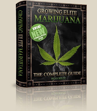 3D beauty shot of the book Growing Elite Marijuana, the Complete Guide by Ryan Riley.