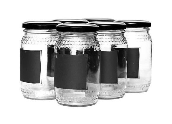 Consol - 352ml Honey Jar with Black Notes - 6pk