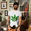 Thumbnail: T-Shirt - Men's Fitted with Glowing Leaf