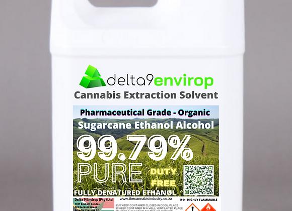 Cannabis Extraction Solvent - Pharma- Grade Organic Sugarcane Ethanol 99,79%