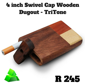"Green goddess. 4"" swivel cap wooden dugout. TriTone."