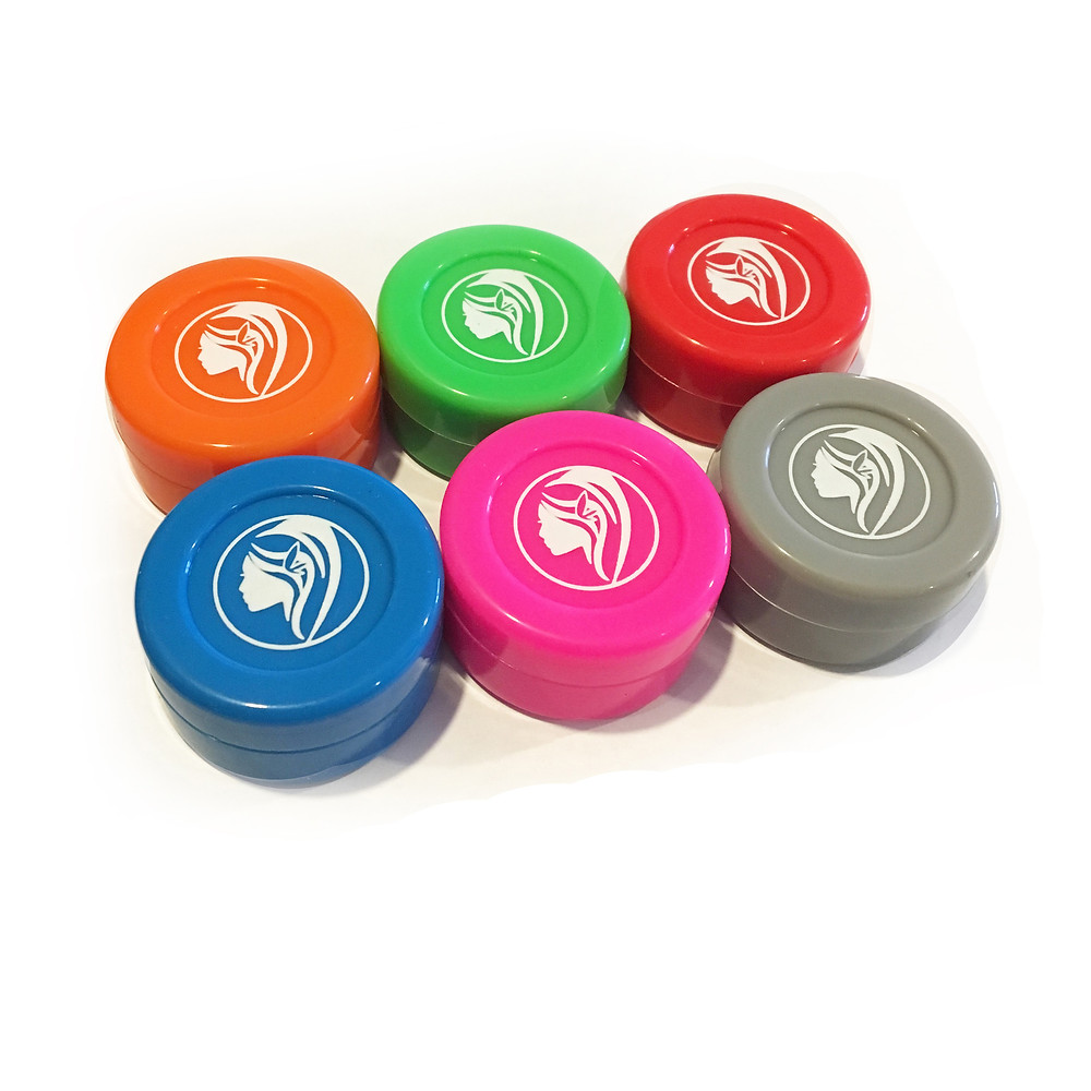 Green Goddess Supply 6 Non-Stick Silicone Wax Jars (Assorted Colors)