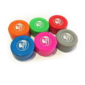 Green goddess. 6 non-stick silicone wax jars (assorted colors).