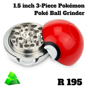 Green goddess. 1.5 inch. 3-piece Pokémon poké ball grinder.