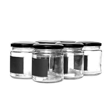Consol - 291ml Jam Jar with Black Notes - 6pk
