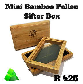 Green goddess. Mini bamboo pollen sifter box.