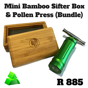 Green goddess combo. Mini bamboo sifter box & pollen press.