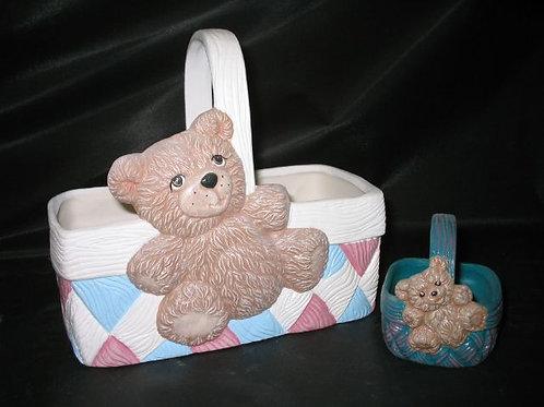 Teddy Bear Basket - favor size
