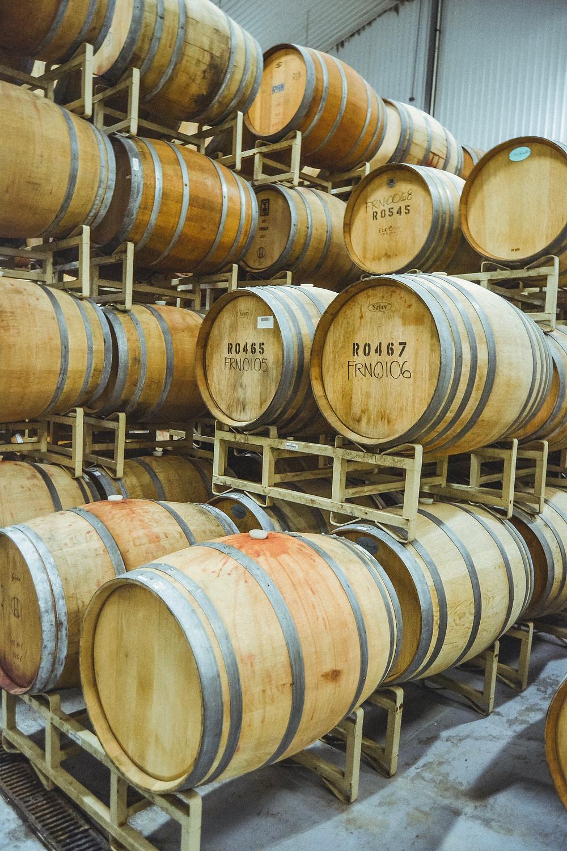 wine oak barrels at the duchman family winery