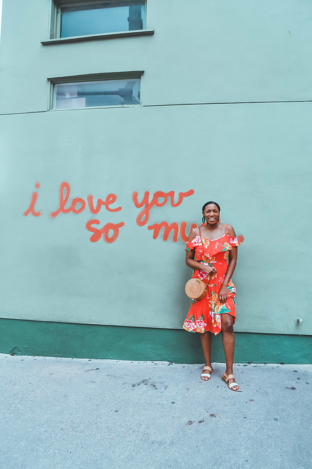 I love you so much mural at Jo's Coffee in Austin, Texas