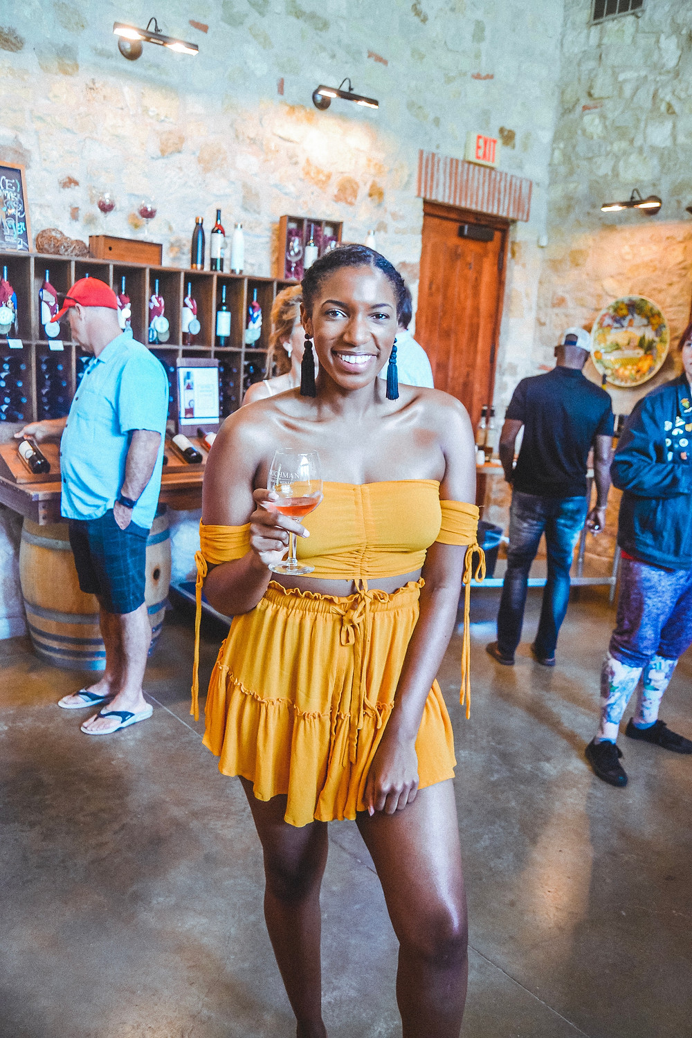 What taylor likes in the tasting room at the duchman family winery