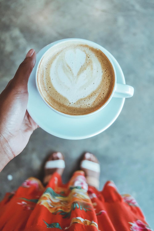Soy latte at Manana Cafe