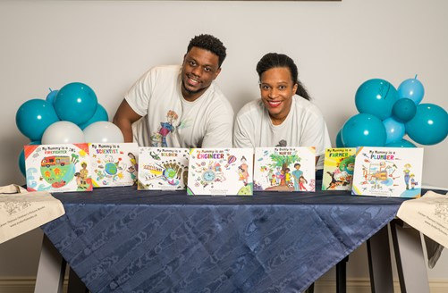 Pictured: Co-Authors and Butterfly Books Founders, Jason Bryan and Kerrine Bryan