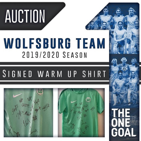 Wolfsburg Squad donate to TheOneGoal