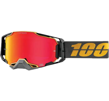 100% Armega Goggles Falcon5 with HIPER Red Lens