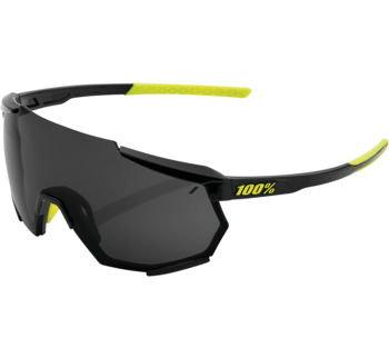 100% Racetrap Sunglasses Gloss Black with Smoke Lens