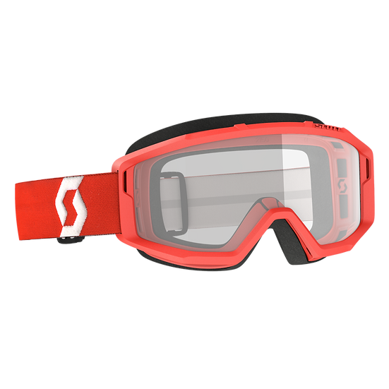 SCOTT PRIMAL GOGGLE RED CLEAR LENS