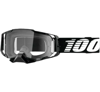 100% Armega Goggles Black with Clear