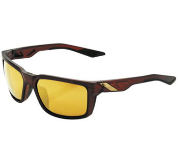 100% Daze Sunglasses Matte Root Beer with Gold Mirror Lens
