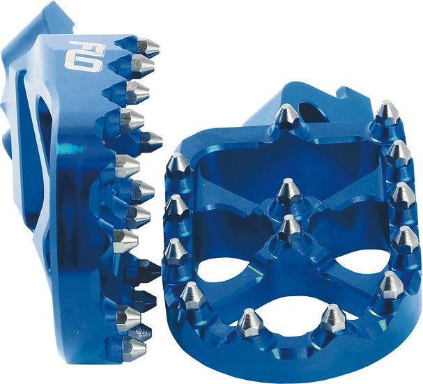 FLO MOTORSPORTS PRO SERIES FOOT PEGS BLUE YAM