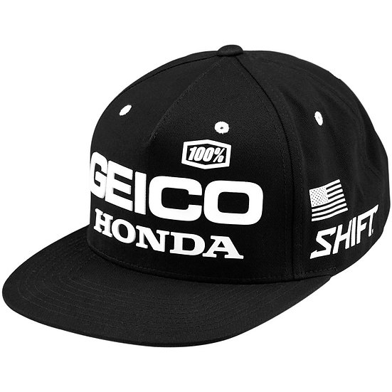 100% 2020 Geico Honda Podium Snapback Hat
