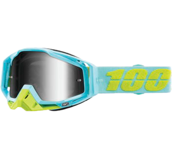 100% Racecraft Goggles Pinacles with Silver Mirror Lens
