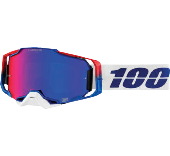 100% Armega Goggles Genesis with HiPER Blue/Red Lens