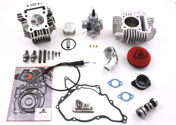 TBPARTS - 143CC BORE KIT, RACE HEAD V2 AND 26MM CARB KIT FOR KLX110 02-09 AND DR