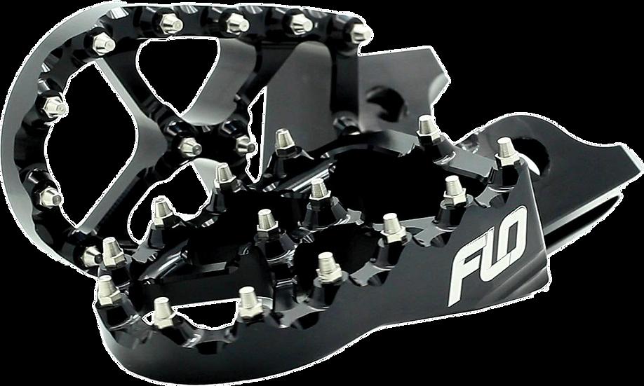 FLO MOTORSPORTS PRO SERIES FOOT PEGS BLACK YAM