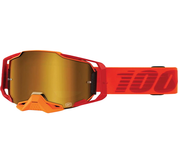 100% Armega Goggles Litkit with Gold Mirror Lens