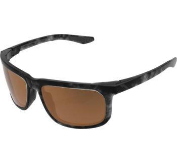 100% Hakan Sunglasses Matte Black Havana with Bronze Lens