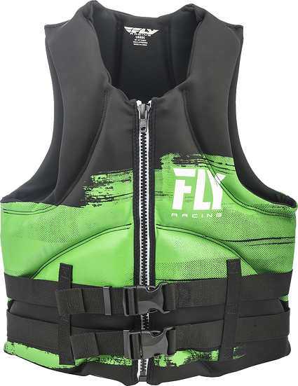 FLY RACING MENS NEOPRENE LIFE JACKET GREEN/BLACK LG