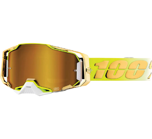 100% Armega Goggles Feelgood with True Gold Lens