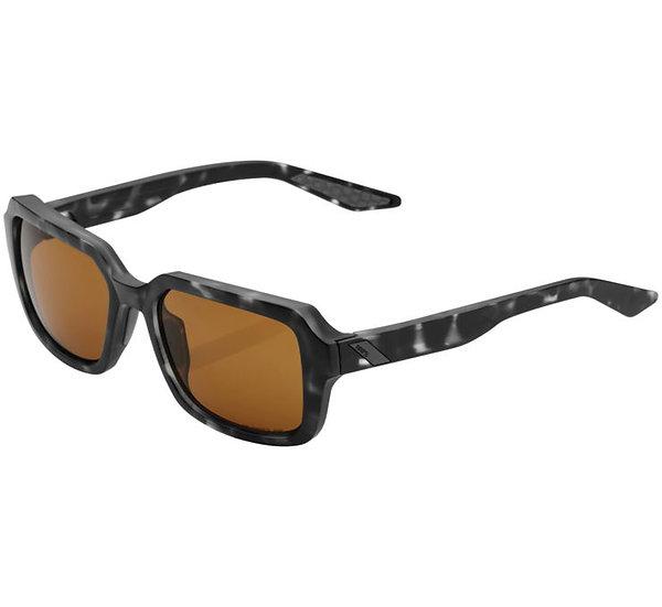 100% Rideley Sunglasses Matte Black Havana with Bronze Lens