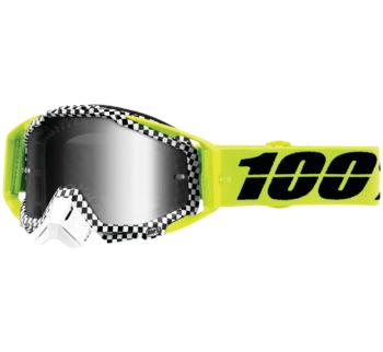 100% Racecraft Goggles Andre with Silver Mirror Lens