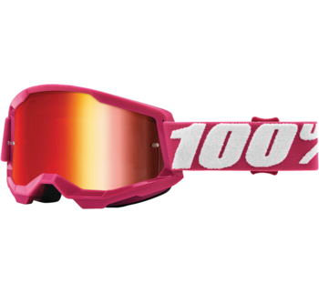 100% Strata 2 Goggles Fletcher with Red Mirror Lens