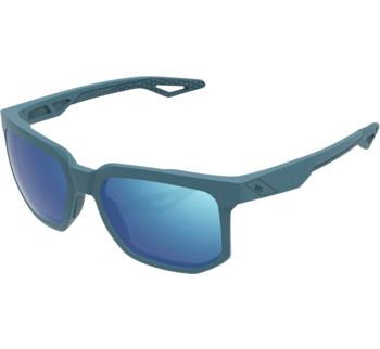 100% Centric Sunglasses Soft Tact Blue with Blue Mirror Lens