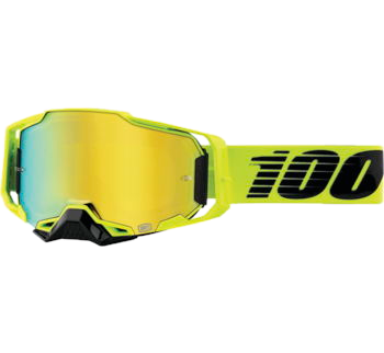 100% Armega Goggles Nuclear Circus with Gold Mirror Lens