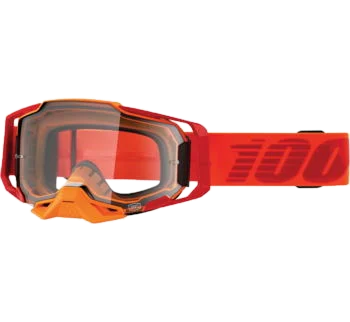 100% Armega Goggles Litkit with Clear Lens