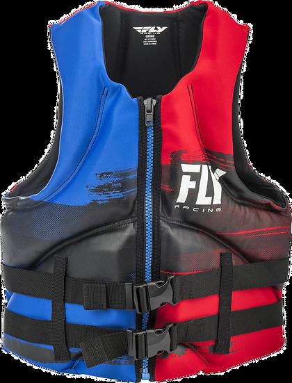 FLY RACING MENS NEOPRENE LIFE JACKET RED/BLUE/BLACK XL