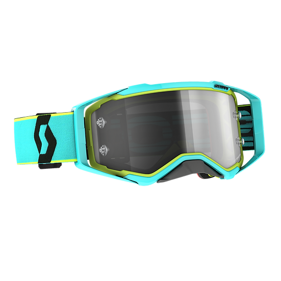 SCOTT PROSPECT GOGGLE LS TEAL BLUE/ YELLOW GREY WORKS LENS