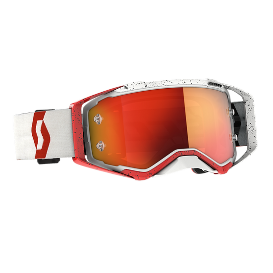 SCOTT PROSPECT GOGGLE RED/WHITE ORANGE CHROME WORKS LENS