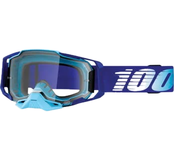 100% Armega Goggles Royal with Clear Lens