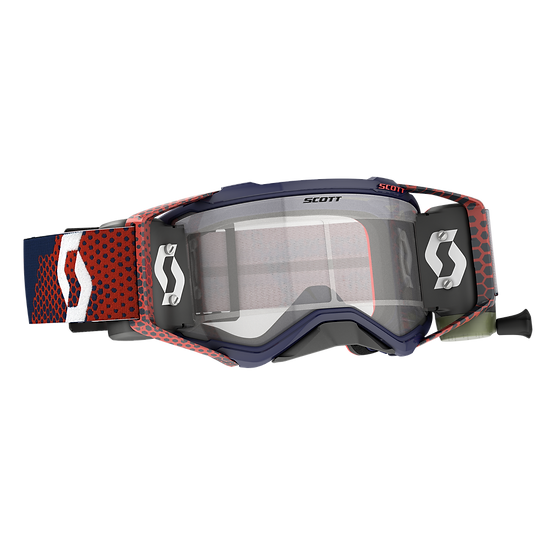 SCOTT PROSPECT GOGGLE WFS RED/BLUE CLEAR WORKS LENS