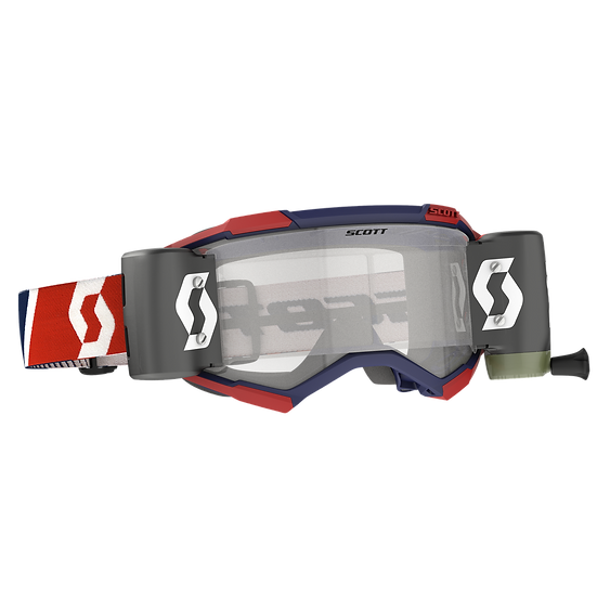 SCOTT FURY GOGGLE WFS RED/BLUE CLEAR WORKS LENS